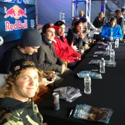 This years Winter X games autograph signing with the Red Bull team.