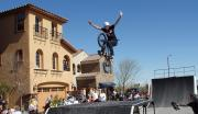 James Foster top ranked touring Bmx Professional does a no hander for the Pulte Homes Open House.