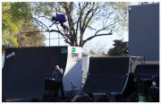 This is one example of the 3 ramp set up. Dylan Stark jumps over owner Ryan Brennan with no hands!