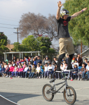 Mike Clark has been said to be the one of the best show riders ever by BMX Plus magazine.