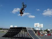 Team Captain<br>Ryan Brennan backflips on a perfecy day for a bmx bike show.